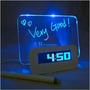 Reloj Despertador - Temperatura Led Pizarra Magica