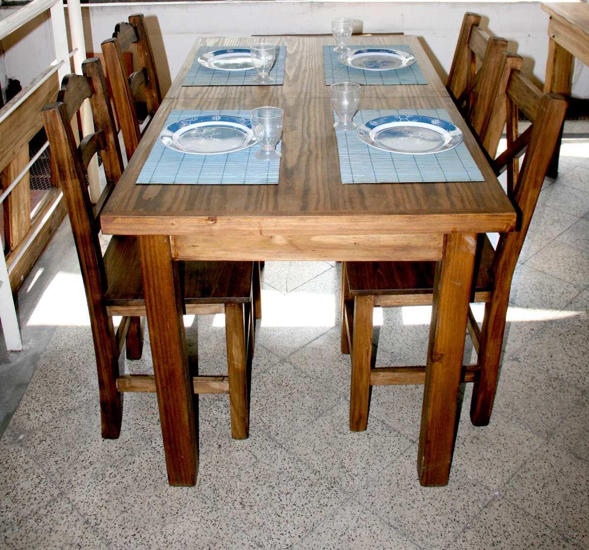 Сontradicciones de la mujer: Mesa y sillas rustica 12 personas