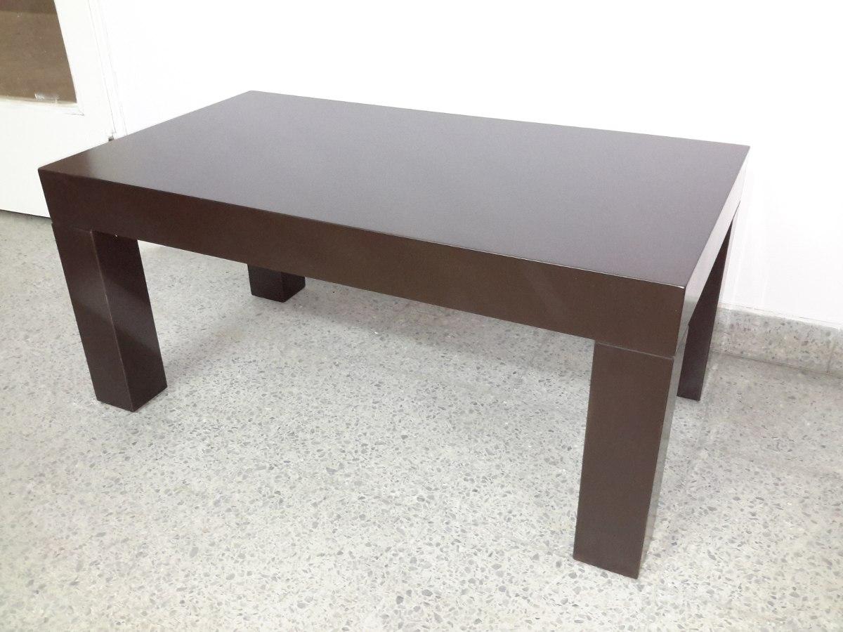 Mesa ratona de centro laqueada moderna madera minimalista for Centros de mesa de madera