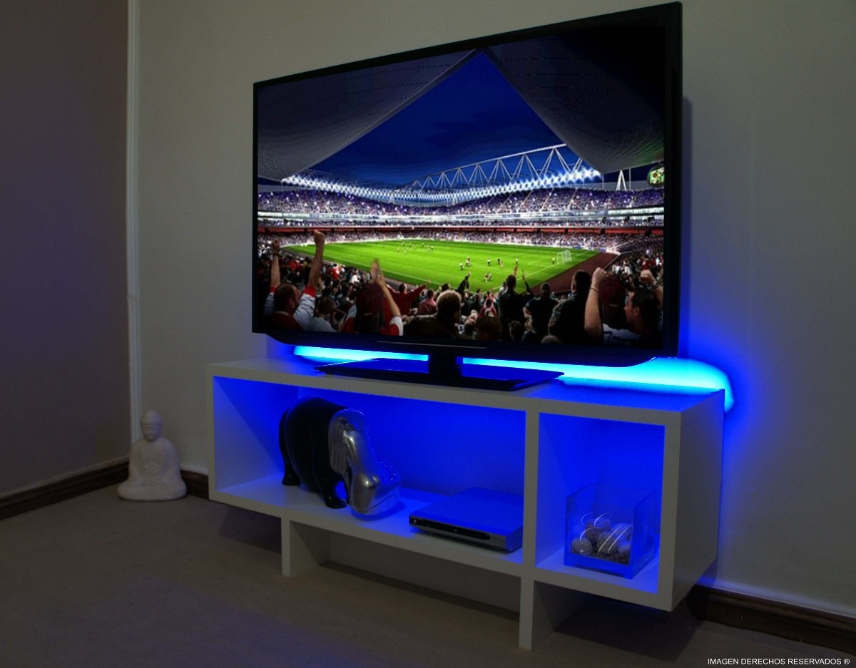 Muebles para tv con luces led for Iluminacion led para muebles