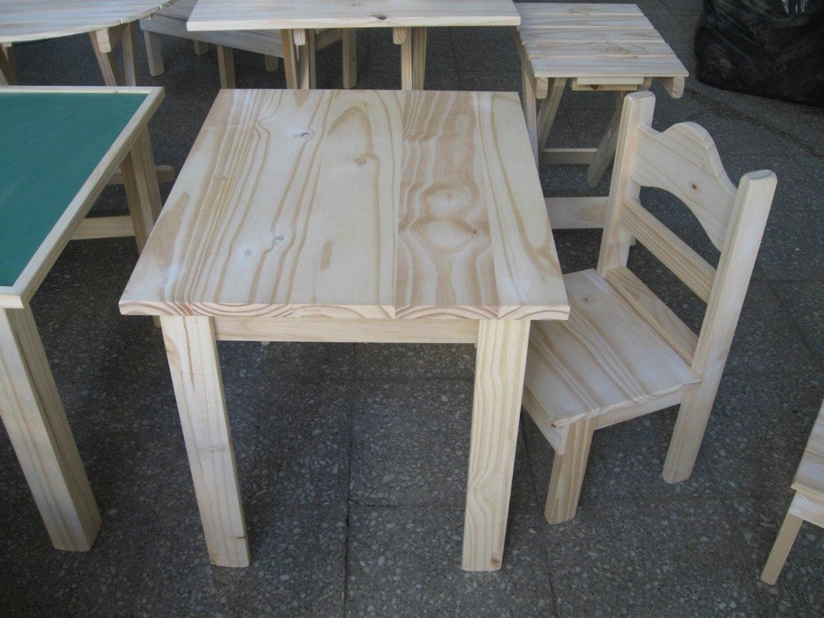 Mesas y sillas para ni os imagui for Mesa y sillas madera