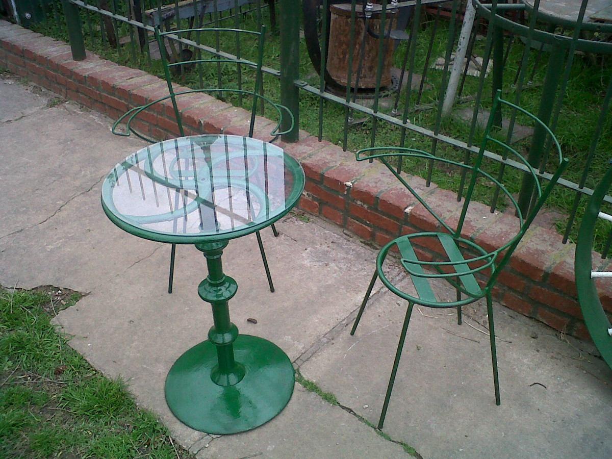 Mesas y sillas de jardin de hierro images - Mesa sillas jardin ...