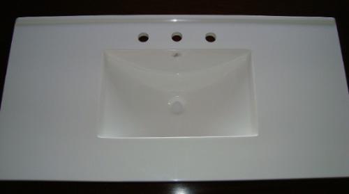 Bachas Para Baño Marmol:Mesadas Bachas De Marmol Sintetico Para Baño / Vanitorys – $ 1597,00