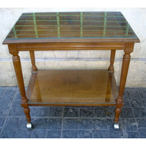 Gran Mesa Bar 2 Planos Proteccion Vidrios Raiz Nogal(1285)f