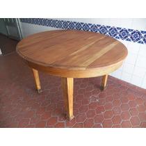 Mesa De Roble Oval Con Tabla, Comedor Cocina Quincho