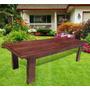 Mesa Para Quincho Jardin Exterior 200x100 Eucaliptus Grandis