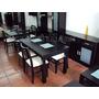 Mesa Comedor Wengue Con 2 Vidrios Esmerilados/carpinteria Dm