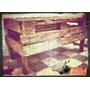 Muebles De Palet!! Mesa De Madera Rustica.con Estante