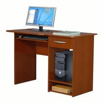 Escritorio Mesa Pc Computadora Moderna 1 Cajón Caoba Envío
