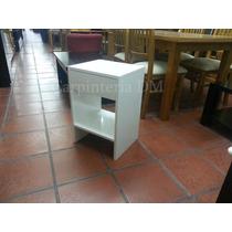 Mesa De Luz Blanca Laqueada Con 1 Cajón / Carpinteria Dm