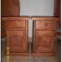 Imperdible!! 2 Mesas De Luz+2 Veladores De Algarrobo