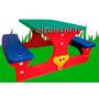 Mesa Camping Picnic Banco Silla Infantil Resistente 4 Niños