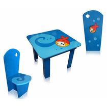 Mesa Y Silla Muebles Para Niños (mesa C/2 Sillas) Punto Bebe