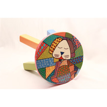 Banquitos Artesanales Para Niños Pintados A Mano Arte Pop