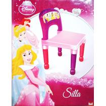 Silla Plastica Fija Disney Princesas Niños (nueva, Sin Uso!)