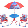 Set De Jardin Spiderman 2 Sillones Mesita Y Sombrilla