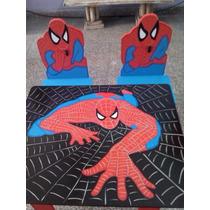 Mesa Y Sillas Infantiles Del Hombre Araña Spiderman