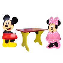 Oferta Mesa Y 2 Sillas Mickey,minnie,donald,daisy