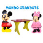 Oferta Mesa Y 2 Sillas Mickey,minnie,donald,daisy