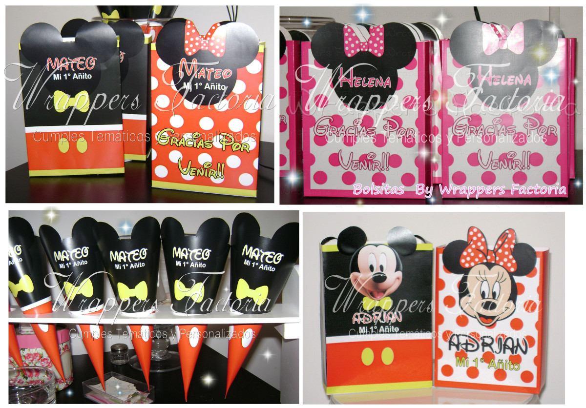 Mickey Y Minnie - Wrappers Y Toppers, Conos, Bolisitas Y Mas ...