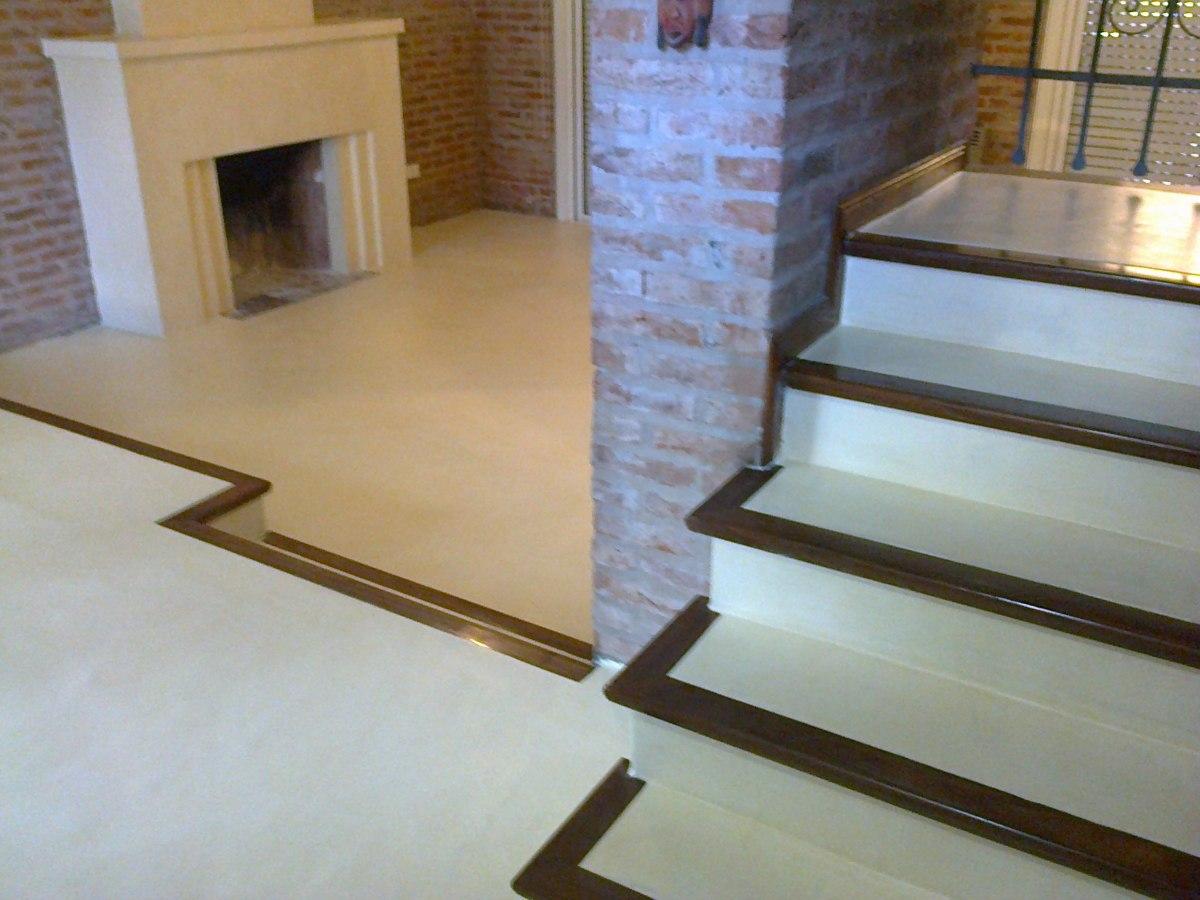 Ba o microcemento alisado for Pisos para escaleras de concreto
