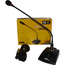 Skp Pro-7k Microfono Con Base Y Cuello Ganso Led Conferencia