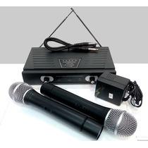 Doble Microfono Inalambrico De Mano Vhf Dumont Bf50m