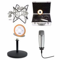 Kit Microfono Condenser Samson C01u Usb Pak