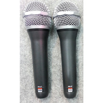 2 Microfonos Dinamicos Vocal Mb-q7 Mark Beim + Estuche