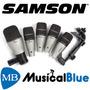 Set De Mics P/bateria Samson (3 Qtom, 1qsnare, 1qdrum) Cl2