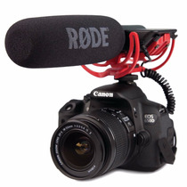 Micrófono Boom Cámara Rode Vm Videomic Condenser Susp Rycote