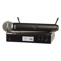 Microfono Inalambrico Digital De Mano Shure Blx24r / Sm58