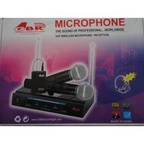 Microfono Inalambrico De Mano Doble En Vhf Gbr