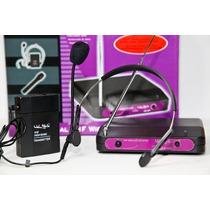 Kit Microfono Inalambrico Vincha Luxell Profesional Vhf 50mt