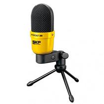 Skp Podcast 200 - Microfono De Mesa Con Soporte Profesional