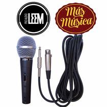 Leem Dm302 Microfono De Mano Profesional Cardioide C/ Cable