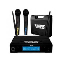 Novik Unk600 Microfono Inalambrico Uhf Doble De Mano Display