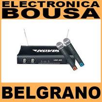 Micrófono Inalambrico Novik Vnk-400 Uhf Doble De Mano