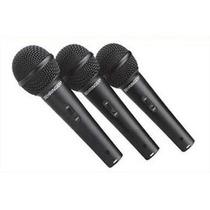 Behringuer Xm1800s Kit De Tres Microfonos Dinamicos Para Voz