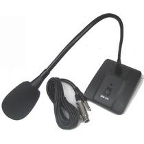 Microfono Flexible Con Cable Plug 6.5mm A Canon Hembra Dj