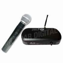 Microfono Inalambrico De Mano Gbr Uhf 100 Profesional