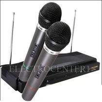 Set 2 Micrófonos Inalámbricos Doble Profesional Karaoke