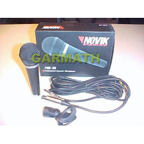 Microfono Novik Fnk 30 Cable Plug - Canon Xlr Dj Pro Garmath