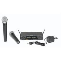 Microfono Inalambrico Doble Samson Cr277 Dos De Mano. Voces.