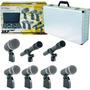 Set Microfonos P/ Bateria Skp Dx7 5 Cuerpos + 2 Aereos