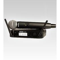 Sistema Shure Micrófono Inalámbrico P/canto Voz Glxd24/sm58