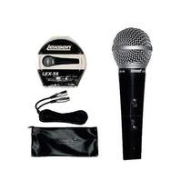 Microfono Profesional Cantante Lex58 Cable Y Funda La Roca
