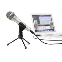 Micrófono Samson Q1-u Dinámico,usb C/ Cable Grabación Pc