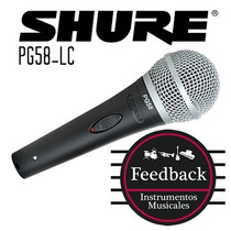 Shure Pg58-lc - Micrófono Dinamico Cardioide P/voces