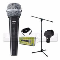 Combo Microfono Shure Sv100 Soporte Antipop Cable Pipeta